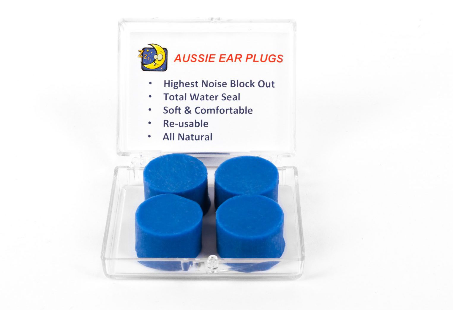 Travel Pack (2) Pairs – Total Noise Blocking Waterproof Earplugs